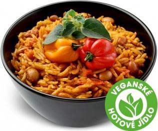 Mexická rýže s fazolemi pinto a uzeným chilli